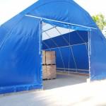 Rundbogenhalle mit PVC-beschichteter Plane